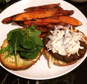 Healthy Burger and Chips