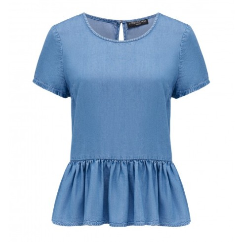 Forever New Minnie Peplim Lyocell Top